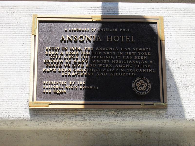 The Ansonia plaque - NYC - History's Homes