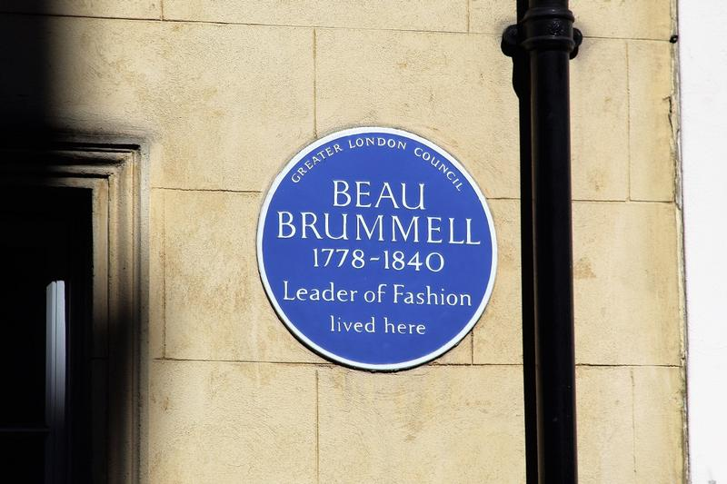 Beau Brummell Home plaque - London - History's Homes
