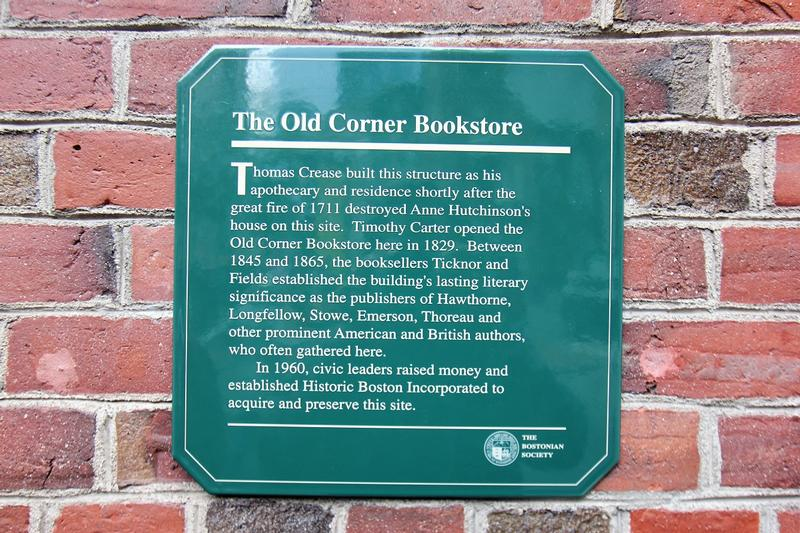 Old Corner Bookstore marker - Boston - History's Homes