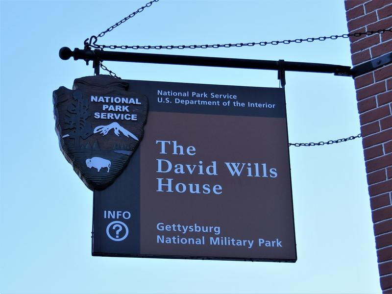 David Wills House sign - Gettysburg - History's Homes