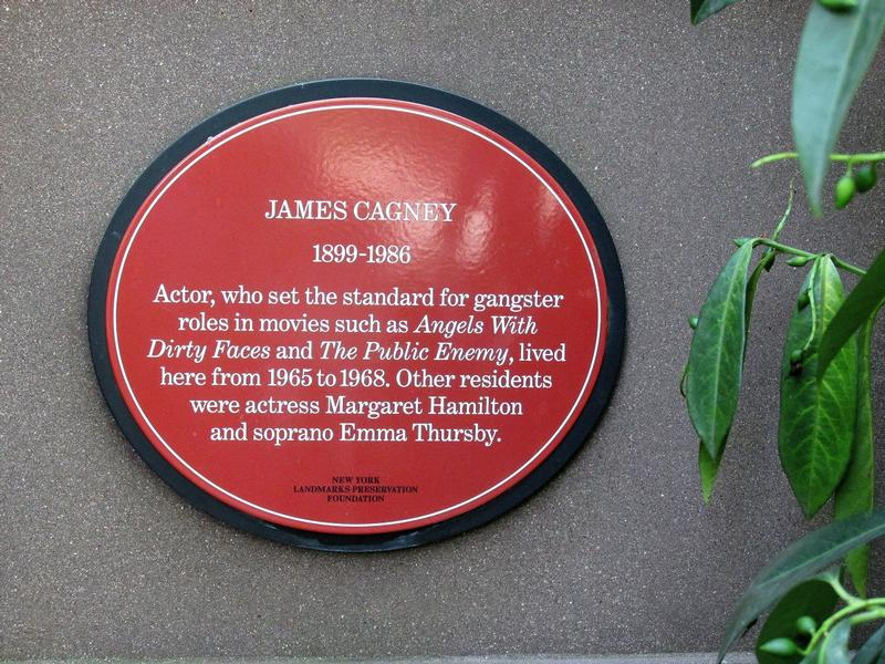 James Cagney plaque - Gramercy Park East - History's Homes
