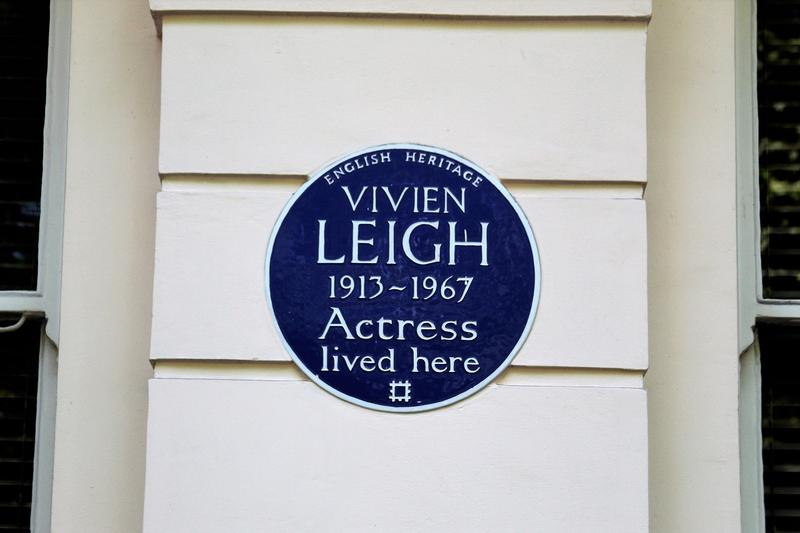 Vivien Leigh Home plaque - London - History's Homes
