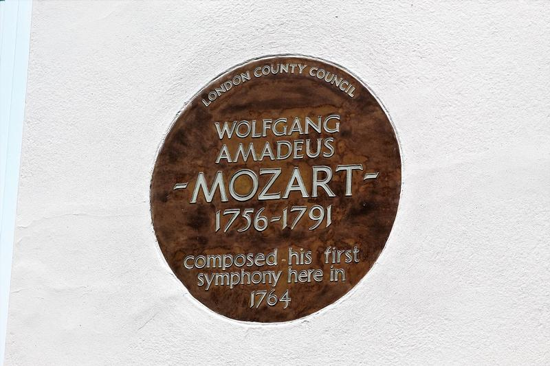 Mozart Home plaque - London - History's Homes