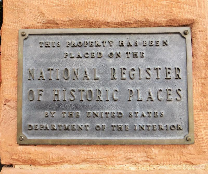 Weatherford Hotel National Register plaque - Flagstaff - History's Homes