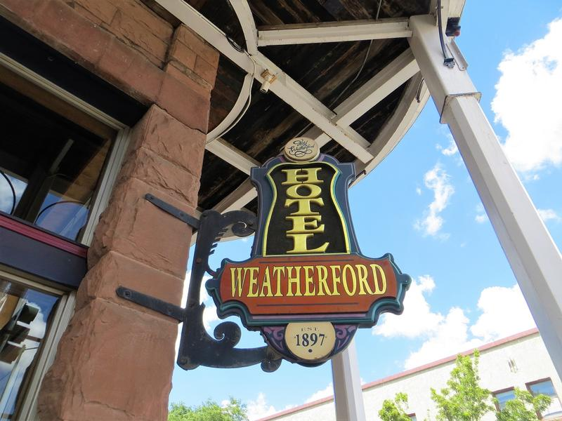 Weatherford Hotel sign - Flagstaff - History's Homes