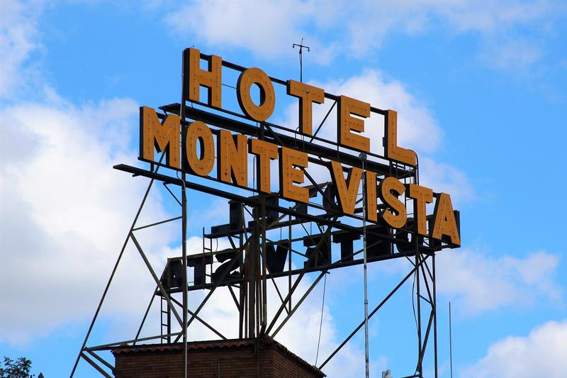 Hotel Monte Vista sign - Flagstaff - History's Homes
