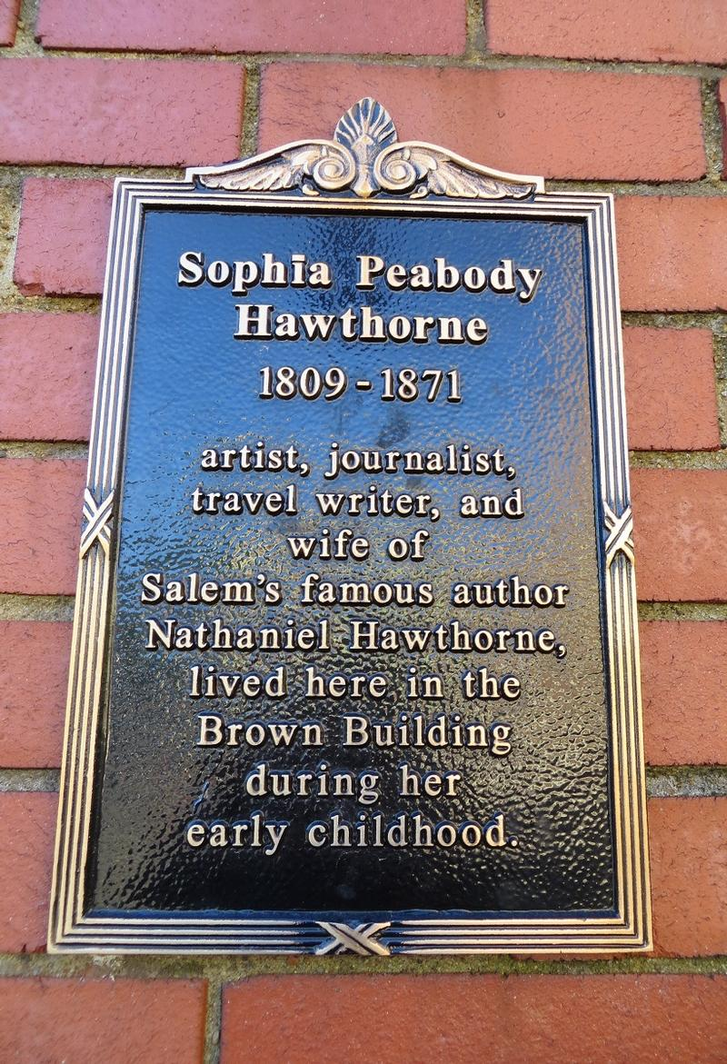 Sophia Peabody Hawthorne Home plaque - Salem - History's Homes