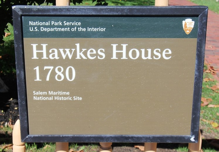 Hawkes House sign - Salem - History's Homes