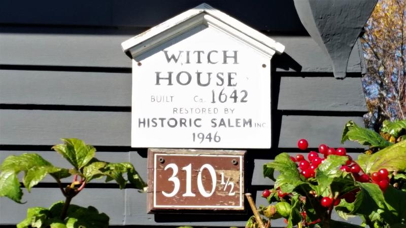 Witch House sign - Salem - History's Homes
