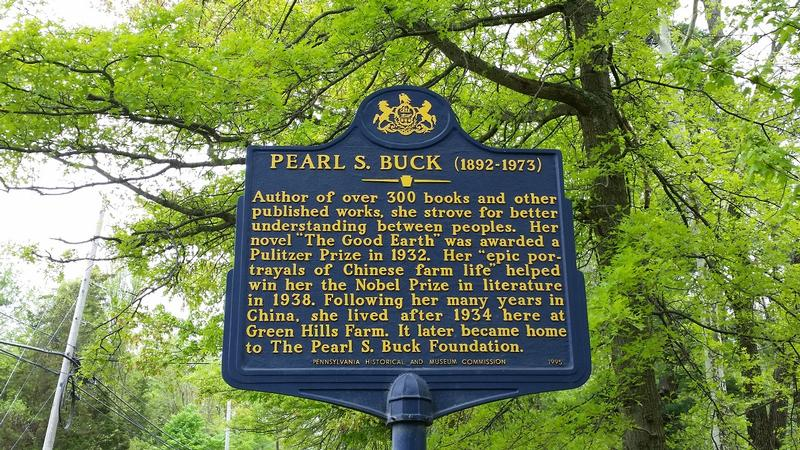 Pearl S. Buck Home - marker - PA - History's Homes