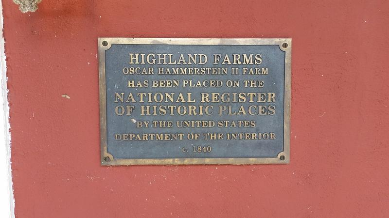 Highland Farm plaque - Doylestown, PA - History's Homes