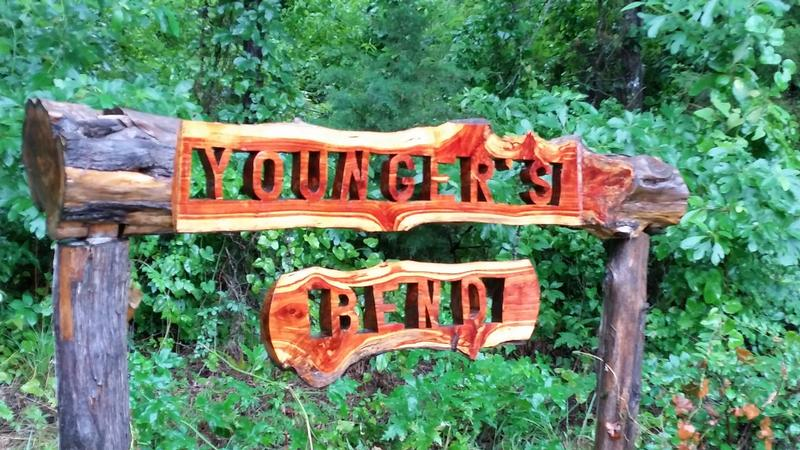 Younger's Bend sign - OK - History's Homes