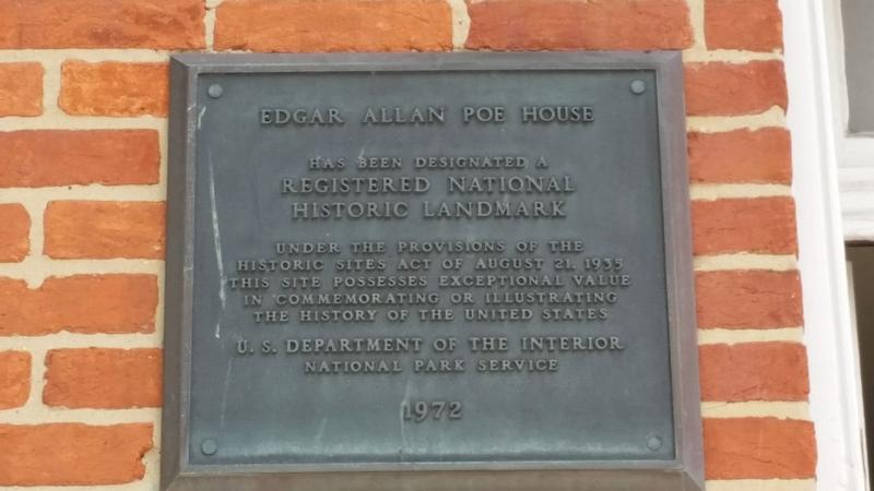 Edgar Allan Poe Home plaque - History's Homes