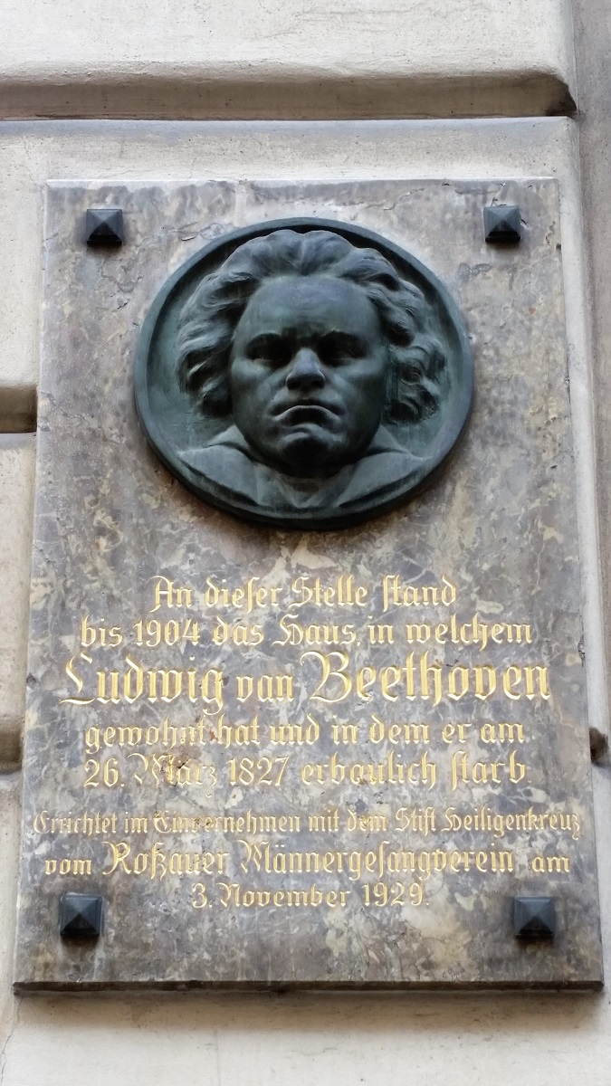 Beethoven Death Site plaque - Vienna - History's Homes