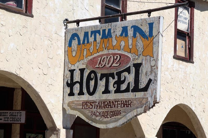 Oatman Hotel sign - Oatman - History's Homes