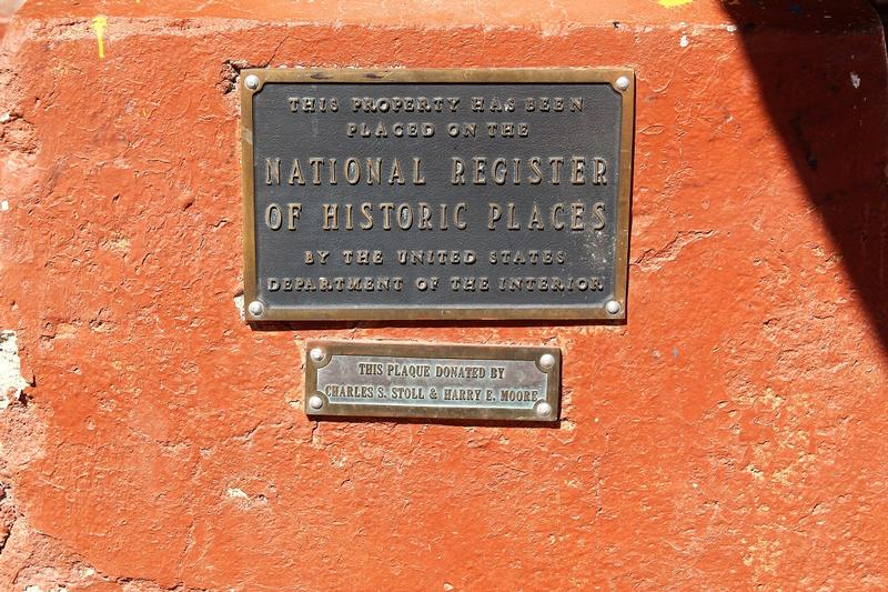 Oatman Hotel plaque - Oatman - History's Homes