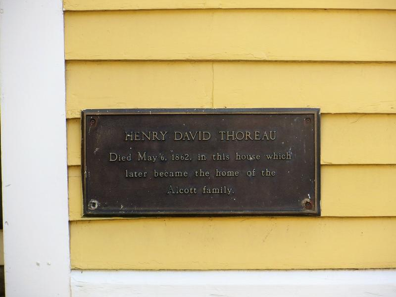 Henry David Thoreau Death Site marker - Concord - History's Homes