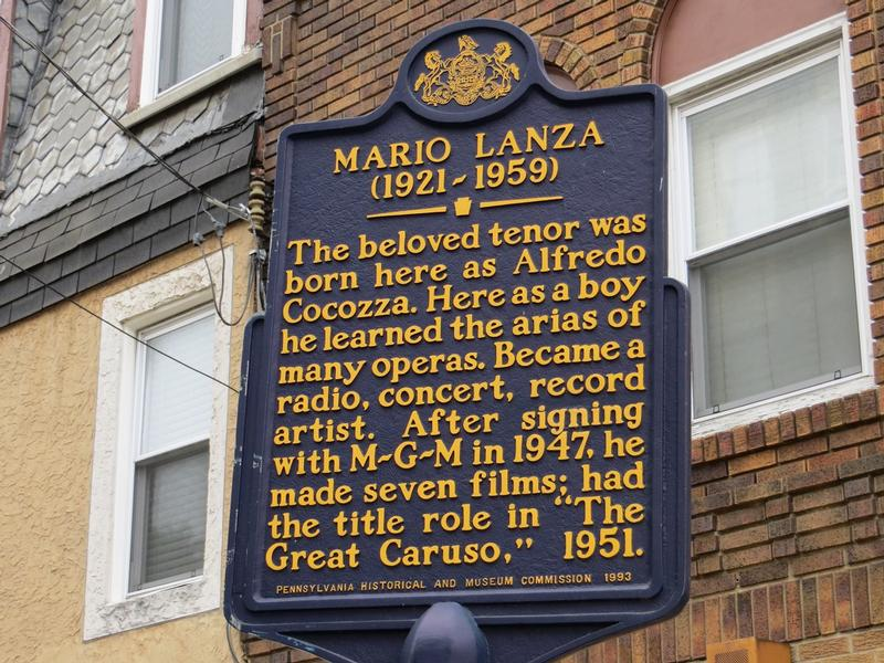 Mario Lanza Birthplace marker - Philadelphia - History's Homes