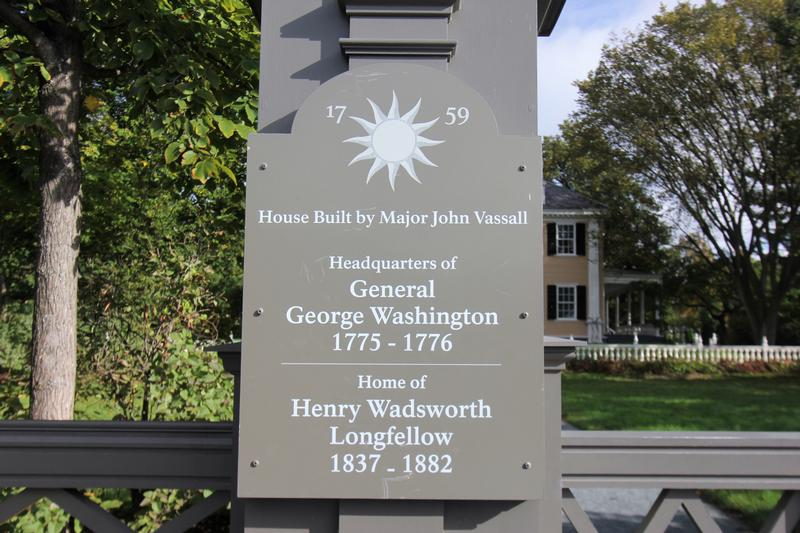 Longfellow House entrance sign - MA - History's Homes