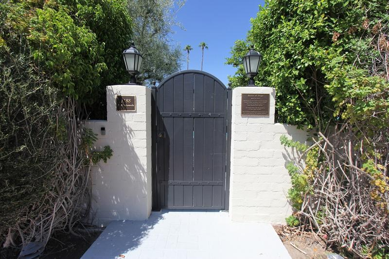 Bob Hope Home #2 front gate - Palm Springs