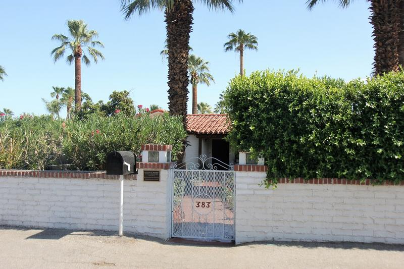William Powell Home front gate - Palm Springs - History's Homes