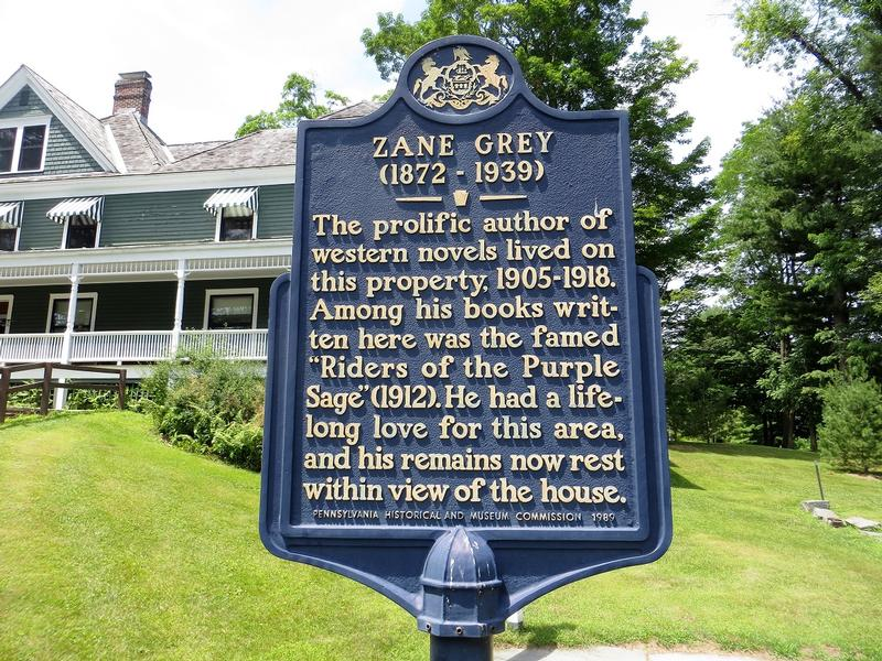 Zane Grey Home marker - PA - History's Homes