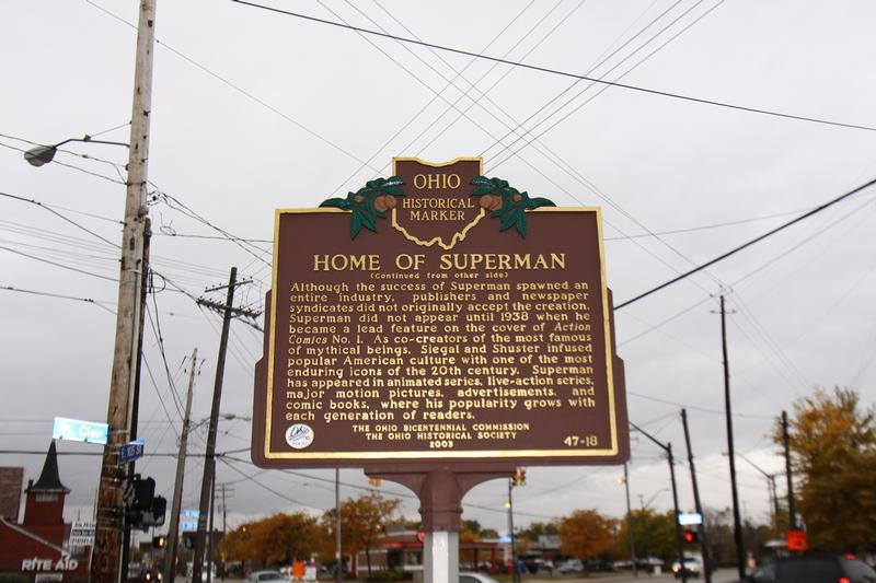 Superman Birthplace marker - Cleveland - History's Homes