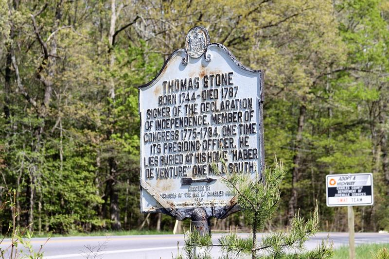 Thomas Stone House marker - Port Tobacco - History's Homes