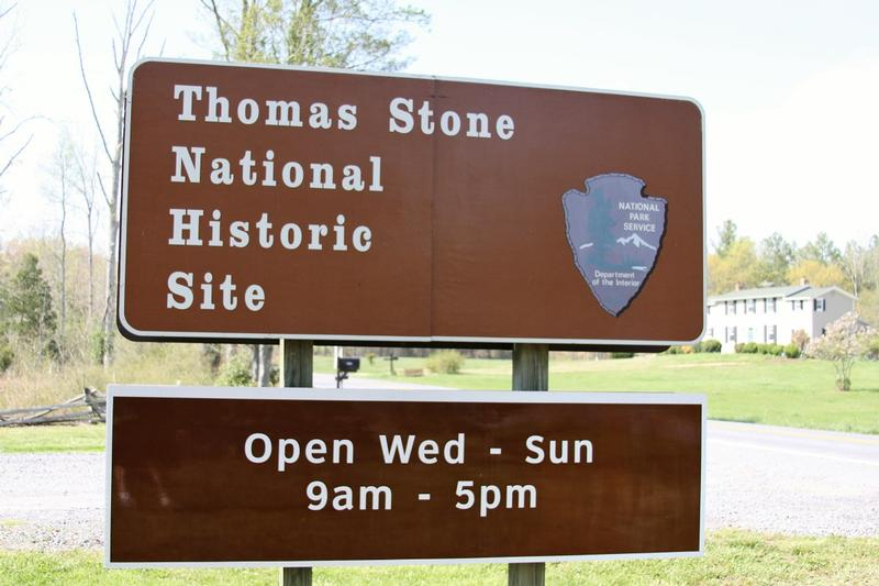 Thomas Stone National Historic Site sign - MD - History's Homes