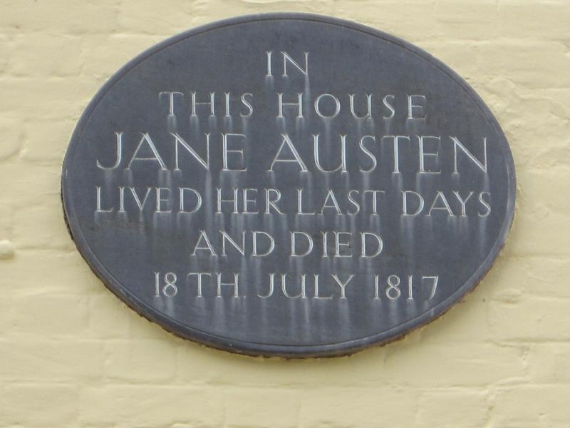 Jane Austen Home marker - Winchester - History's Homes