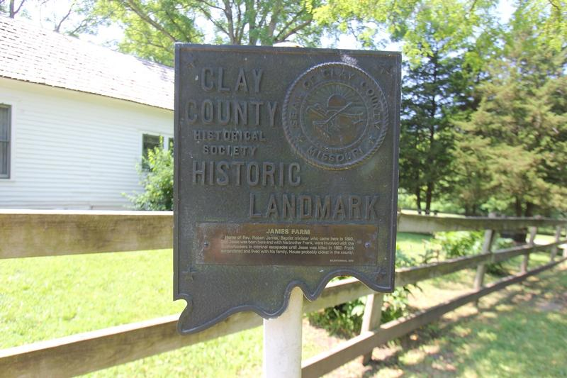 Jess James Farm marker - MO - History's Homes
