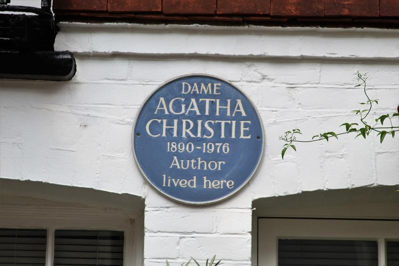 Agatha christie Home plaque - London - History's Homes