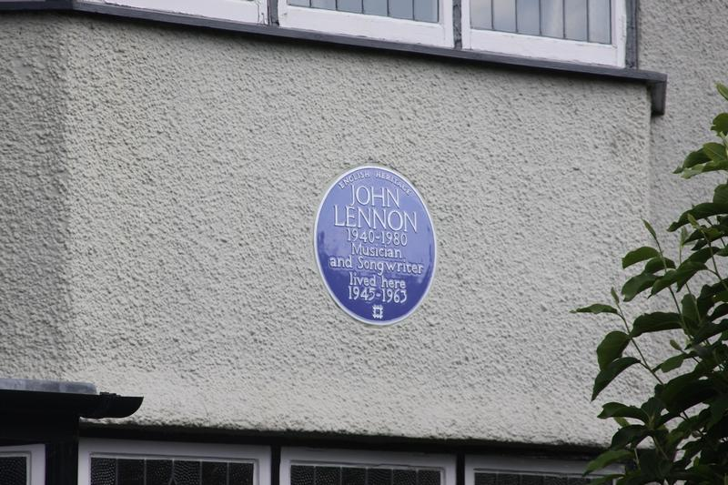 John Lennon Home plaque - Liverpool - History's Homes