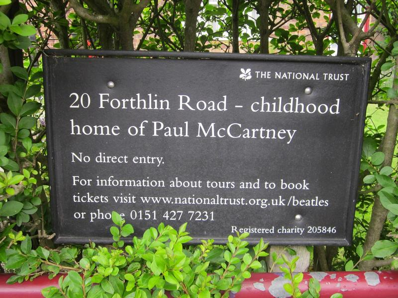 Paul McCartney Home sign - Liverpool - History's Homes