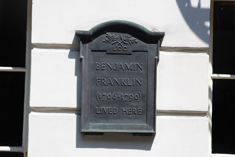 Benjamin Franklin Home plaque - London - History's Homes
