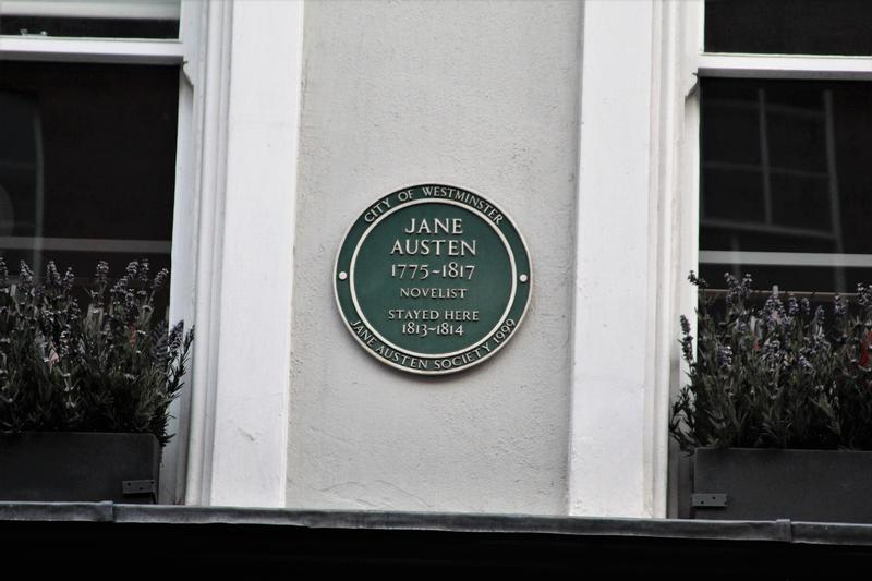 Jane Austen Home plaque - London - History's Homes