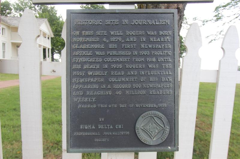 Will Rogers Birthplace plaque - OK - History's Homes