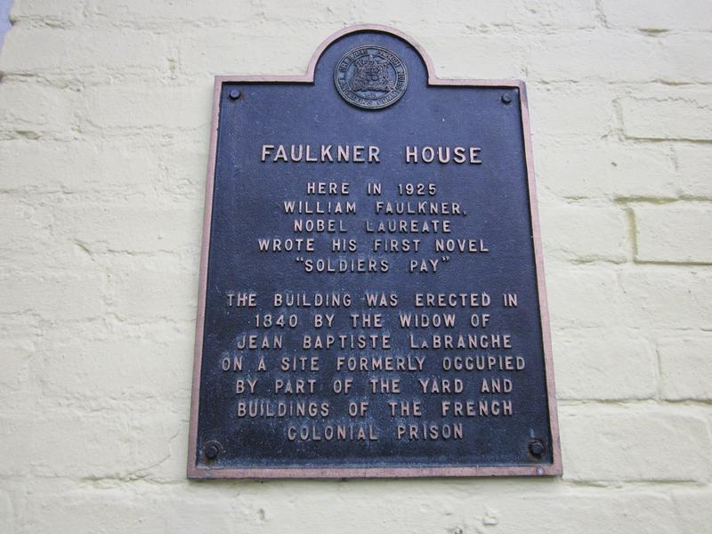 Faulkner House plaque - New Orleans - History's Homes