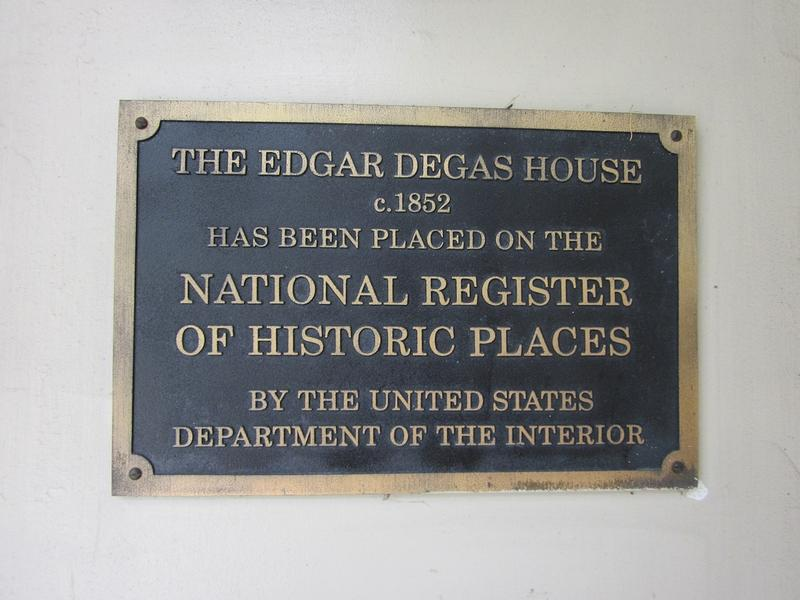 Edgar Degas Home plaque - History's Homes