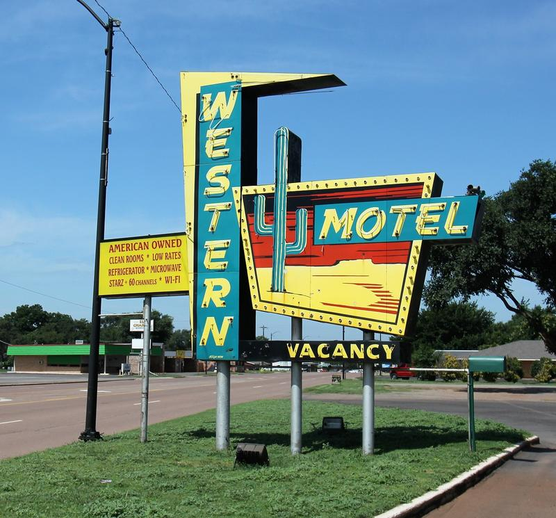 Western Motel sign - Sayre - History's Homes