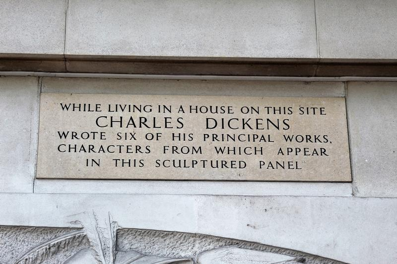Charles Dickens Home Site marker - London - History's Homes