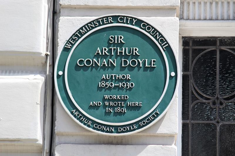 Arthur Conan Doyle Home plaque - London - History's Homes