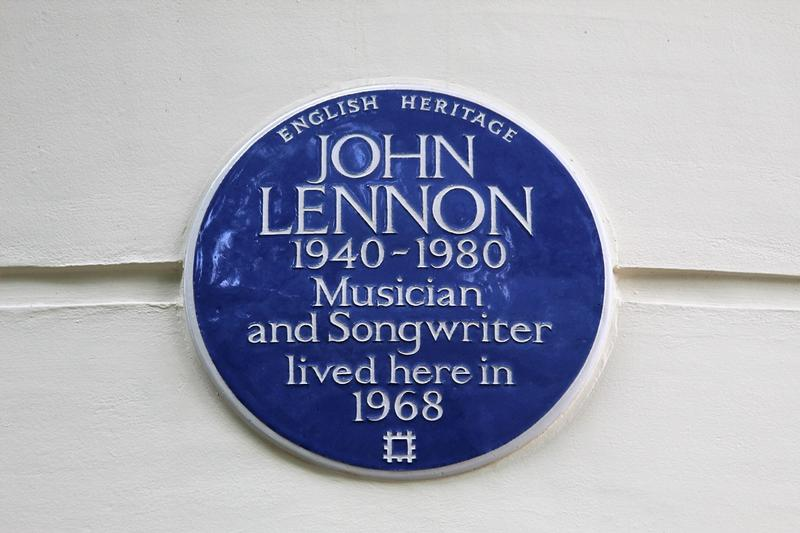 Montague Square John Lennon plaque - London - History's Homes