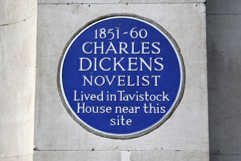 Charles Dickens Home Site plaque - London - History's Homes