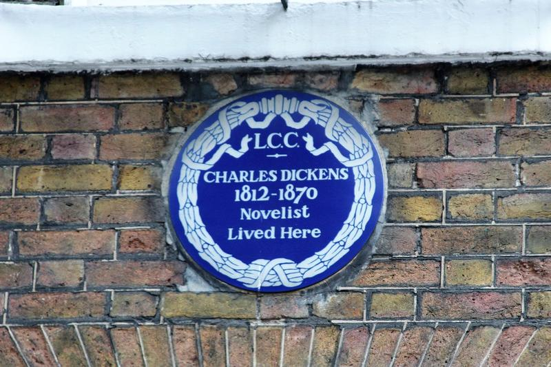 Charles Dickens Home plaque - London - History's Homes
