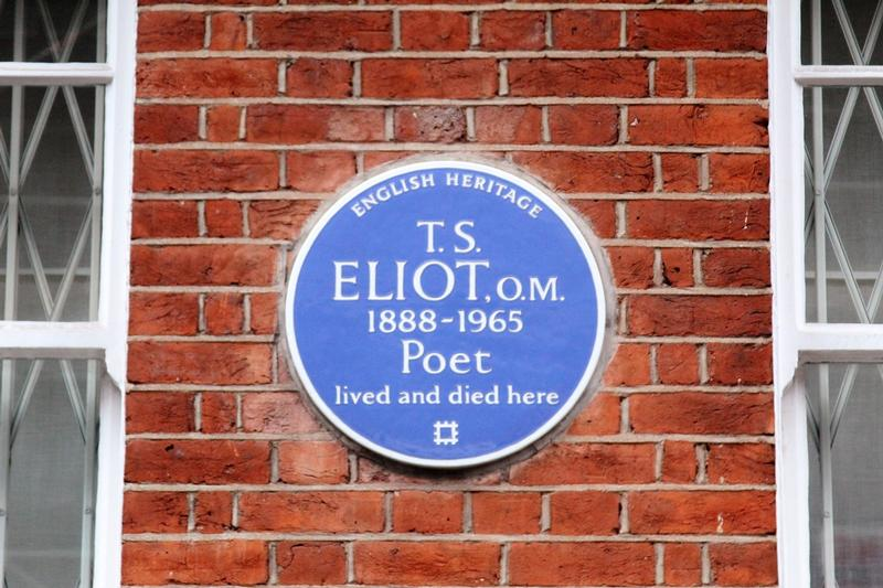 T.S. Eliot Home plaque - London - History's Homes