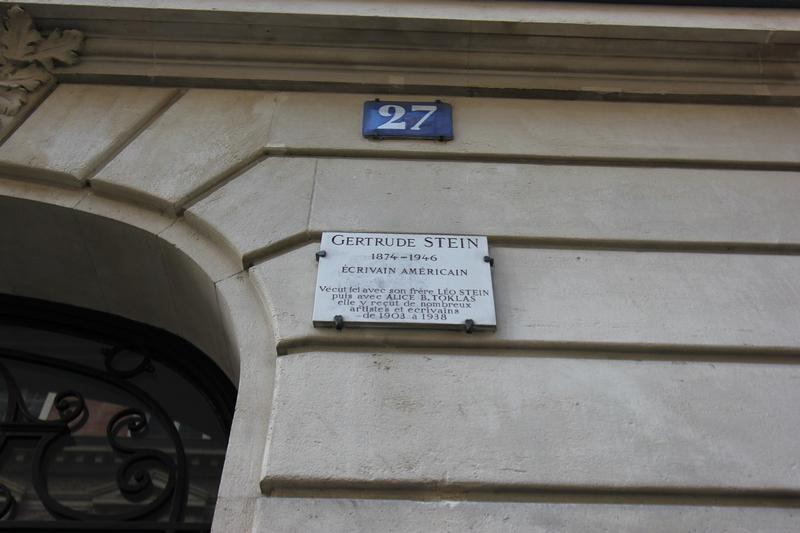 Gertrude Stein Home plaque - Paris - History's Homes