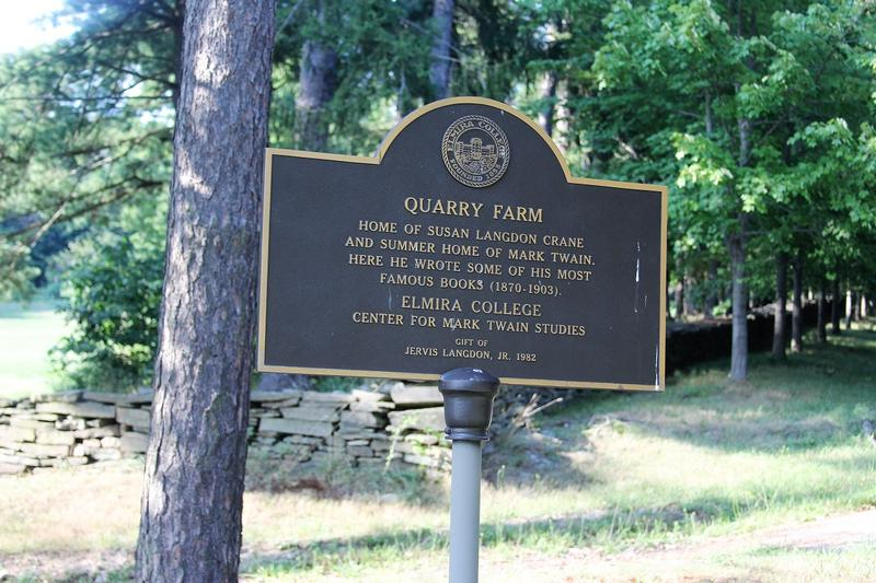 Quarry Farm sign - Elmira - History's Homes