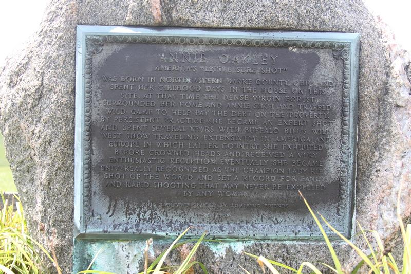Annie Oakley Birthplace Site marker - History's Homes