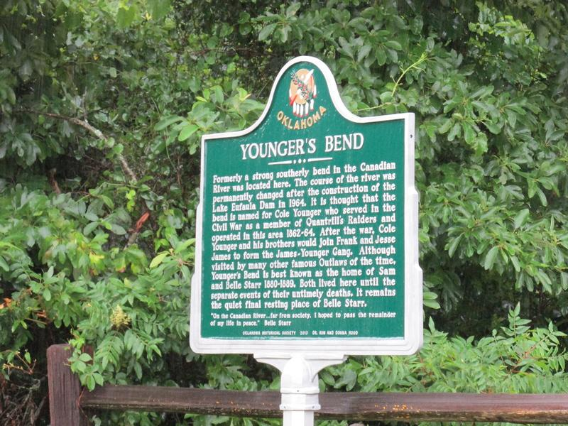 Belle Starr Home Site marker - History's Homes